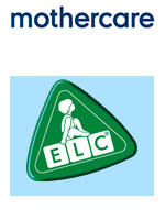 The logos for the Mothercare and Early Learning Centre companies